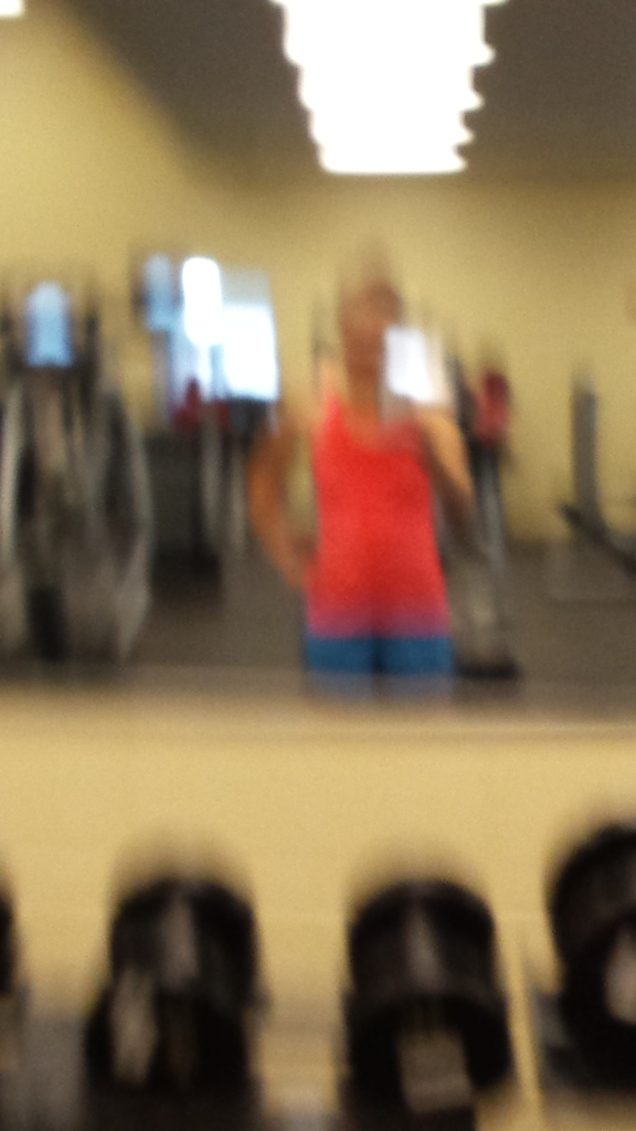 This is what happens when you try to take a gym selfie without anyone noticing. Fail.